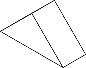 Triángulo de madera